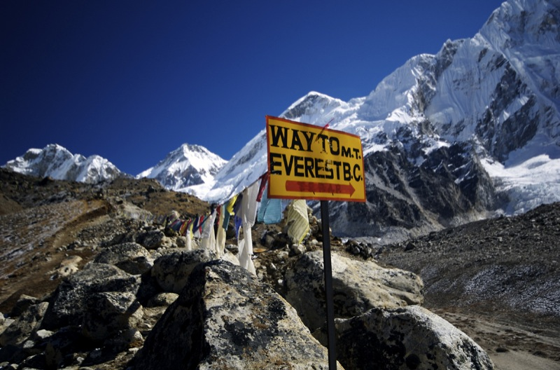 2-of-20 Sign to Everest Base Camp
